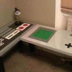 Nintendo Controller and Gameboy Desks