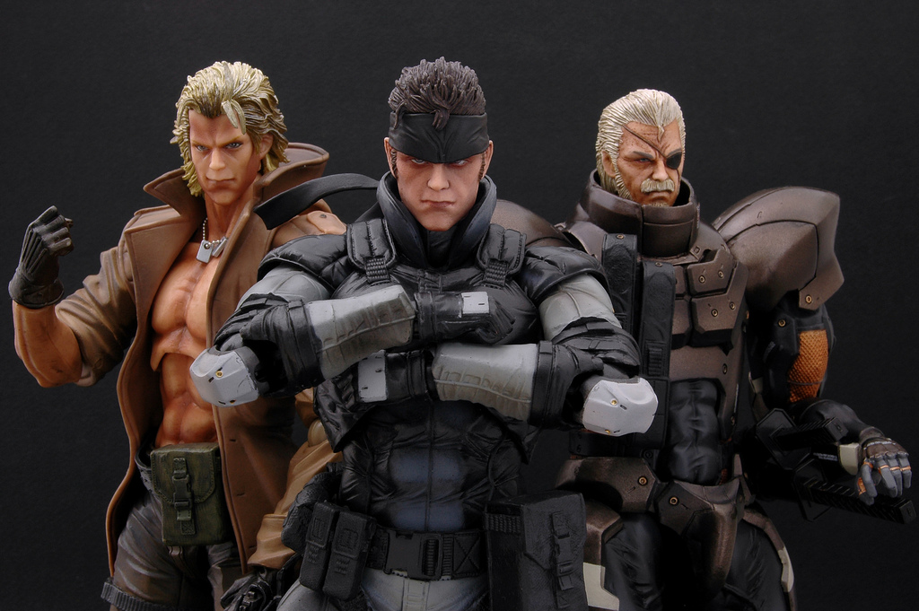 Big Boss, Solid Snake & Liquid Snake from Metal Gear Solid