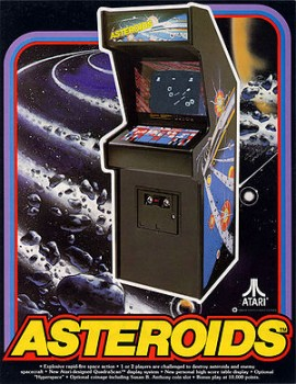 Asteroids, arcade game, retro